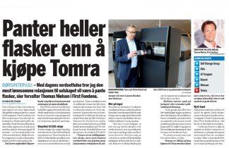 Thomas Nielsen Finansavisen 2020 Januar