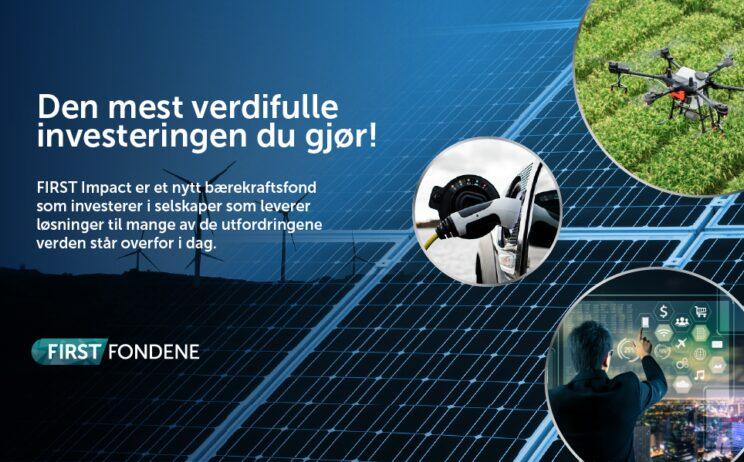 Bilde: Lanseringen av bærekraftfondet FIRST Impact